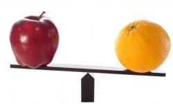 Apples and oranges comparisson