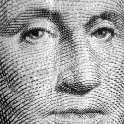 George washington face on dollar bill