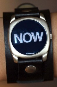 Watch showing time as now