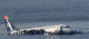 plane crash hudson river