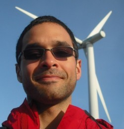 Me at Siemens with wind mill turbine