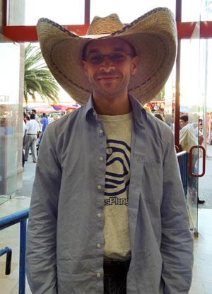 me wearing a cowboy hat