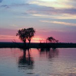 Photo Friday - Chobe River Sunset - Botswana-Namibia Border