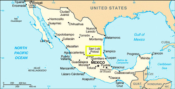 map of mexico san luis potosi