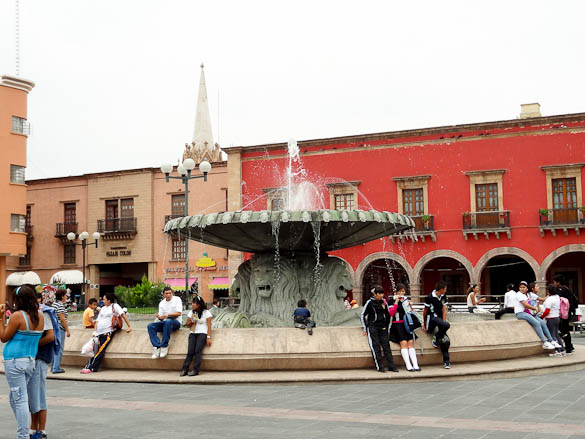 Fountain in Leon, Mexico