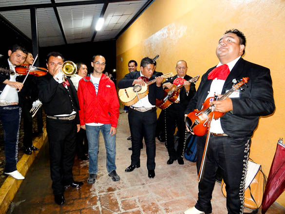 Me with a group of mariachis in Leon, Mexico