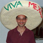 me wearing a sombrero on mexican independence day saying viva mexico