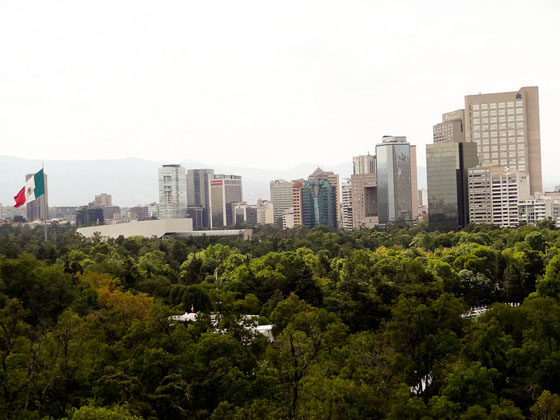 View of Mexico City from castillo Chapultepec castle