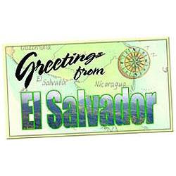 el salvador postcard box