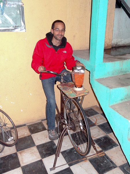 Me Riding Bike Machine Blender