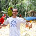 Me with birds at Macaw Mountain Bird Park In Copan Ruinas Honduras (6)