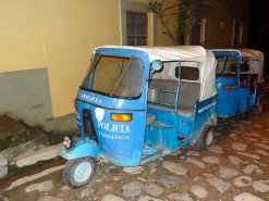 Police Motor Taxi In Honduras
