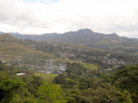 View Of Matagalpa, Nicaragua With Smoke From Burning Garbage