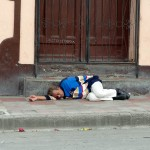 Man Sleeping In The Street