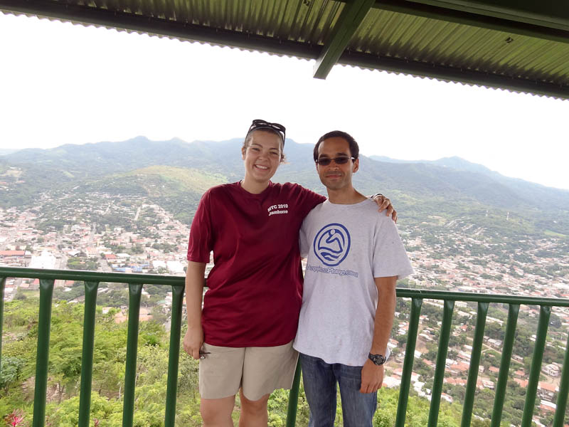 Me And Jenevieve On Top Of The Mountain