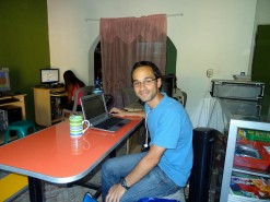 "My ""Office"" In An Internet Cafe In El Salvador"