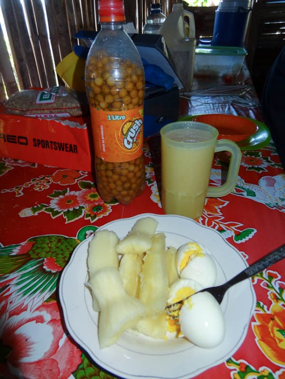 Nancy Fruit Juice And Eggs With Yuca