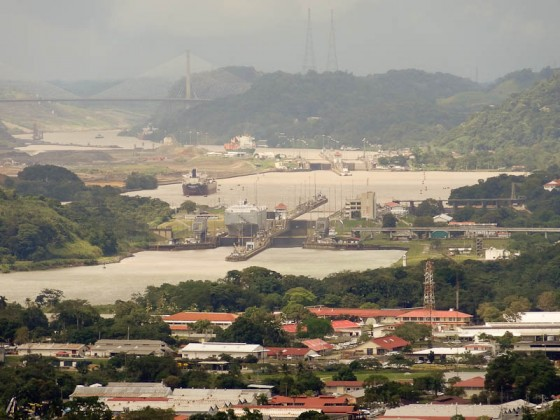 Panama Canal From Cerro Ancon
