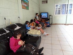 Some Kids Watching Cartoons