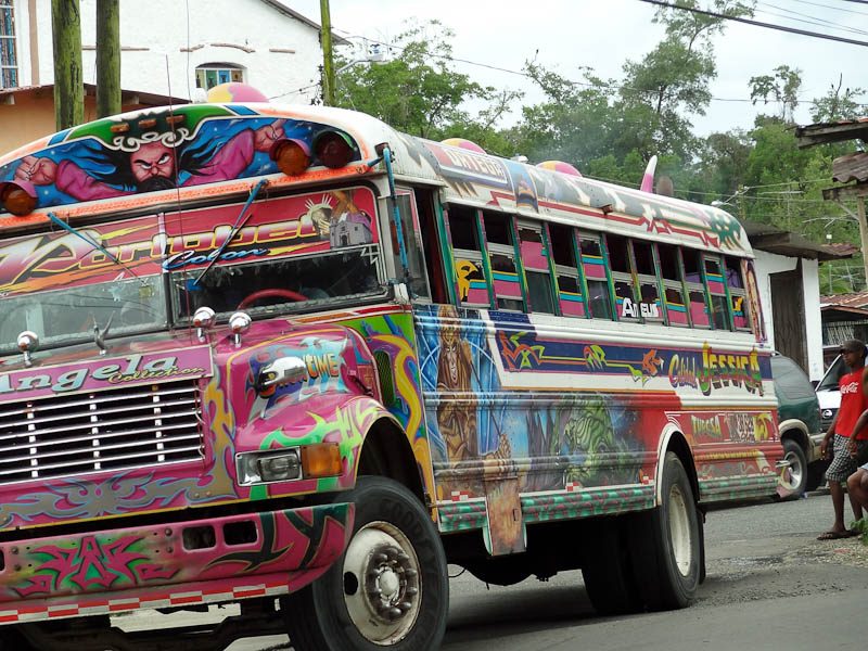 Chicken Bus In Guatemala