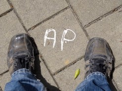 My Initials On A Street Tile