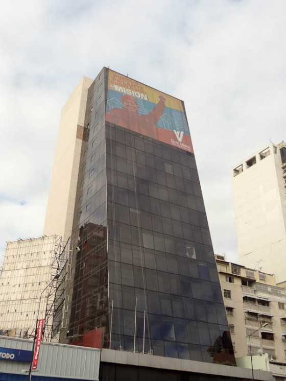 Sign On A Building In Caracas