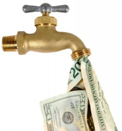 Cash Flow Tap Spewing Dollars