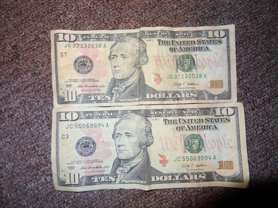 Counterfeit $10 Bill