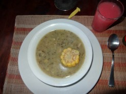 Ajiaco Soup And Guava Juice