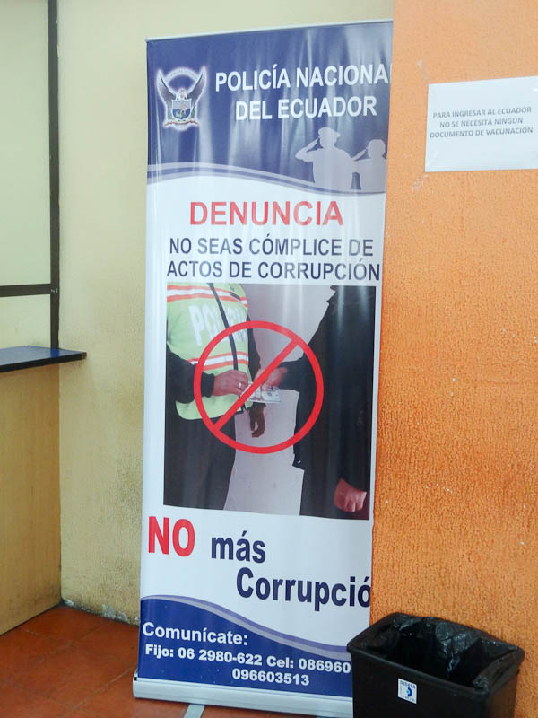 Anti-Corruption Display At Immigration