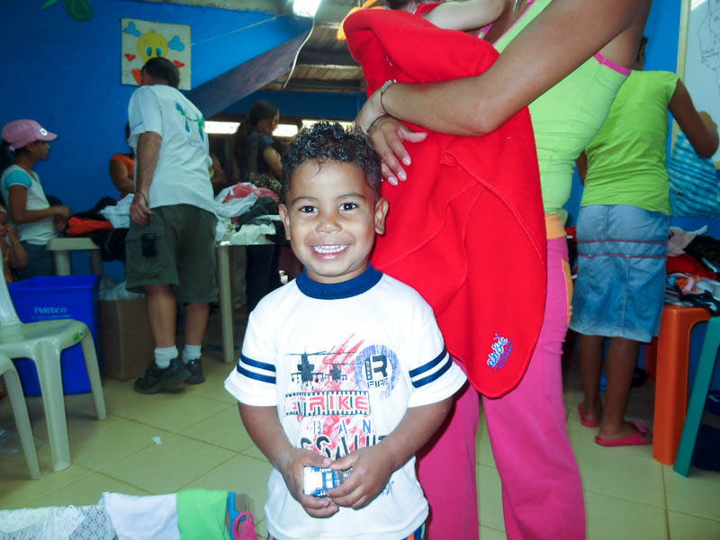 Happy Boy On Donation Day