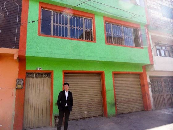 Kenji At His Childhood Home In Ciudad Bolivar