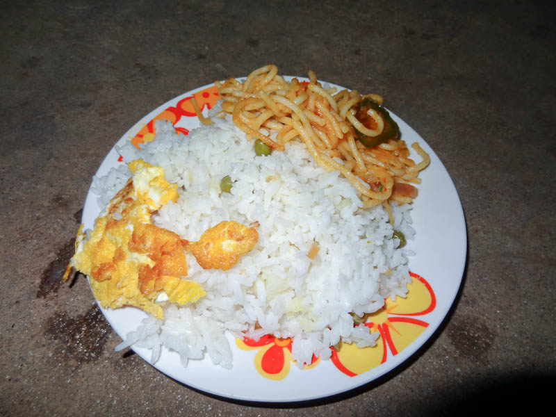 Rice With Eggs And Noodles