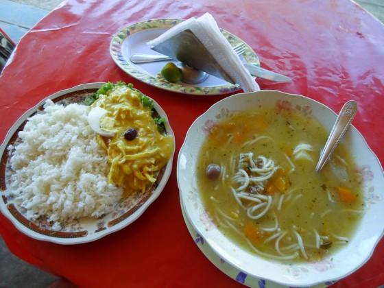 Aji Gallina With Soup