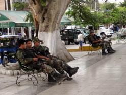 Plaza de Armas With Police