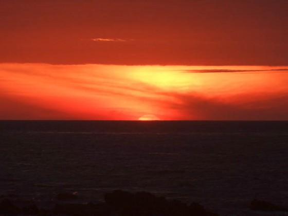 Peruvian Sunset Over The Pacific