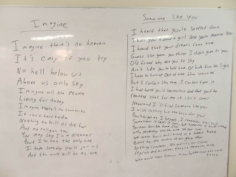 The Lesson - Lyrcis To The Songs