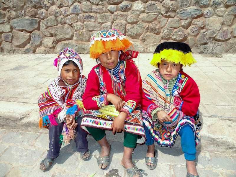 Children Wearing Traditional Clothing