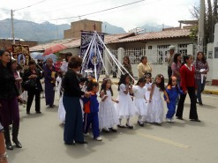 Little Girls Leading The Procession