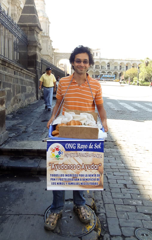 Selling Bread In The Streets Of Arequipa