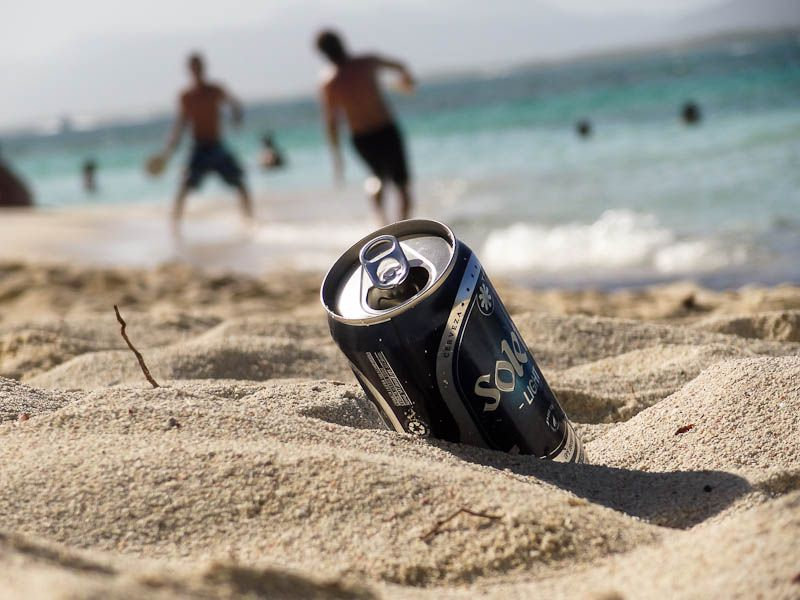 Beer Can On The Beech - Tucacas, Venezuela