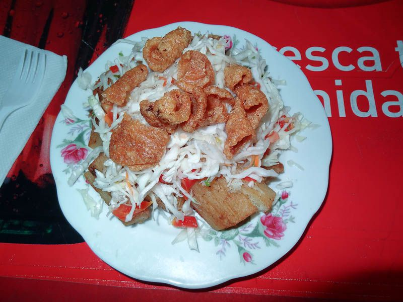Chicharron With Salad