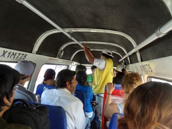 Inside A Combi - Arequipa, Peru