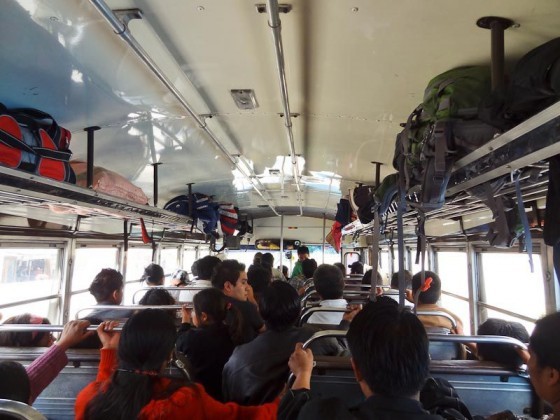 Inside A Guatemalan Chicken Bus