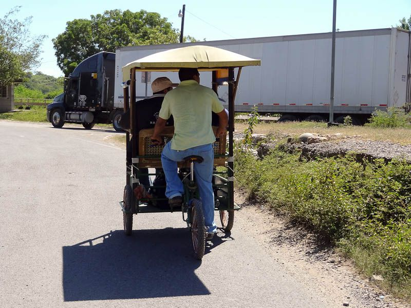 Pedal Taxi To Nicaraguan Border