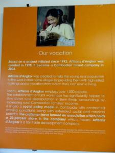 Artisans Angkor's Mission