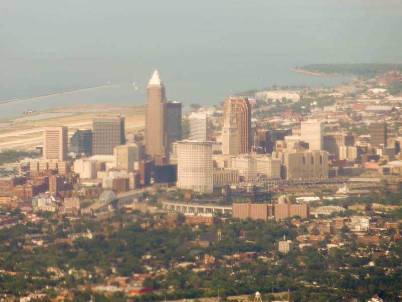 City Of Cleveland From The Air
