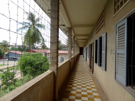 Corridor - Barbed Wire Prevents Suicide Jumps