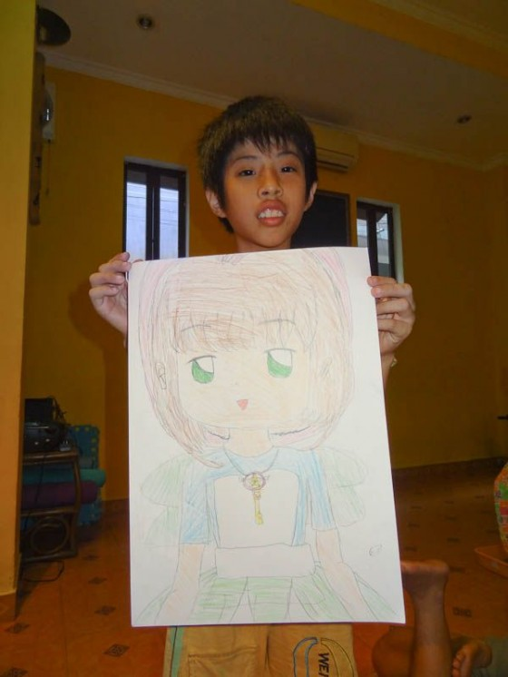 A Future Artist And His Artwork