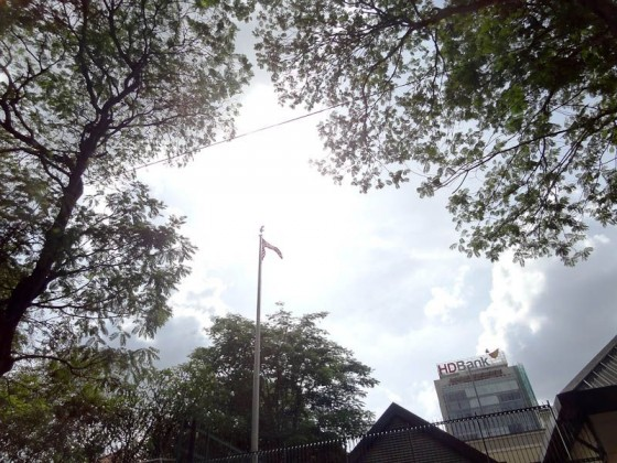 Flag At USA Consulate In Saigon